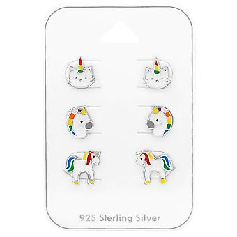 Unicorno - 925 Sterling Silver Set - W38727X
