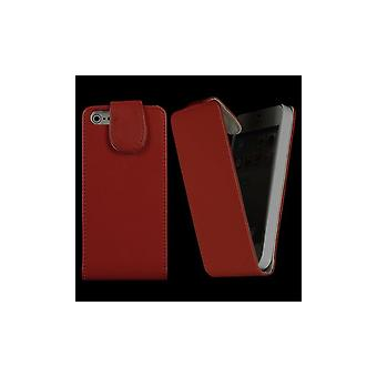 Magnetized Vertical Red Opening Cover For IPhone 5