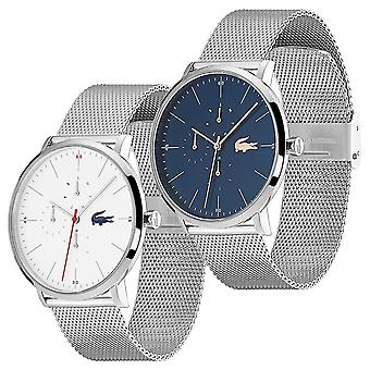Lacoste Mens Moon Multi Dial Quartz Water Resistant Stainless Steel Watch
