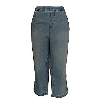 الدنيم وشركاه المرأة & ق زائد جينز18WP كابري جينز المفاجئة توليب الأزرق A354406