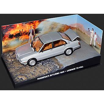 Maserati Biturbo (1986) Diecast model auto van James Bond License to Kill