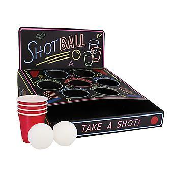 Drikke spil shot Ball sort, trykt, lavet af plastik, i gaveindpakning.