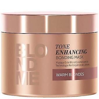 Schwarzkopf blondme tone enhancing & bonding mask warm blondes caramel 200ml