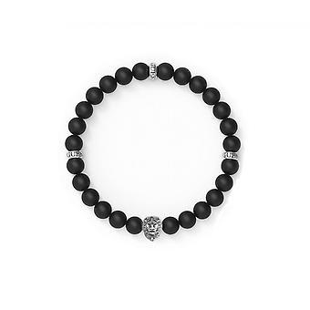 ANTAR att män i UMB78000 antar armband - armband d svarta pärlor svansar stål t du lion man
