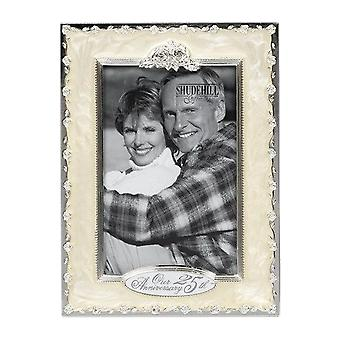 Shudehill Giftware Our 25th Silver Anniversary 4 X 6 Photo Frame