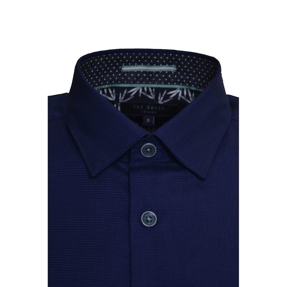 Ted Baker Men's Dark Blue Mowntay Short Sleeved Shirt