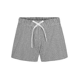 Rösch 1202060-14709 kvinner's Vær glad svart minicheck print pyjamas kort