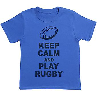 Keep Calm And Play Rugby - Kids T-Shirt