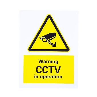 Warnschild CCTV in Operations Rigid Plastic mit 4 Vorbohrloch
