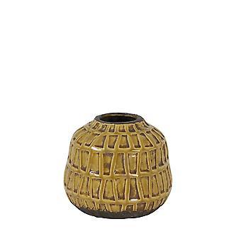 Light & Living Vase Deco 20x17cm Menzo Ceramics Ocher