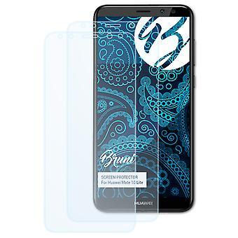 Bruni 2x Schutzfolie kompatibel mit Huawei Mate 10 Lite Folie