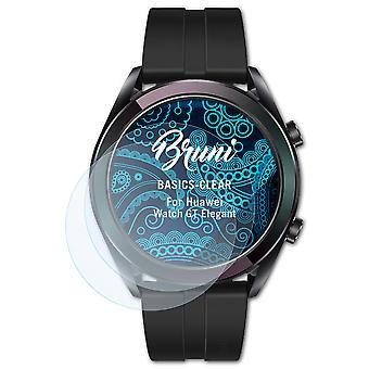 Bruni 2x Screen Protector kompatibel med Huawei Watch GT Elegant Beskyttende Film