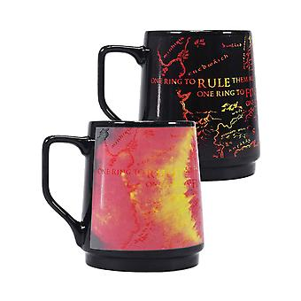 Lord of the Rings Tankard Mug One Ring Heat Changing new Official Black Boxed