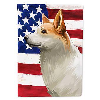 Carolines Treasures  CK6628GF Norrbottenspets Dog American Flag Flag Garden Size