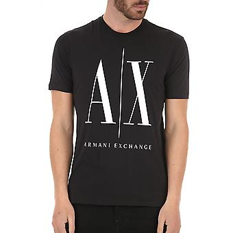 Armani Exchange 8nztpazjh4z1200 Uomini's T-shirt Black Cotton