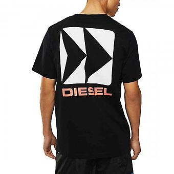 Diesel JUST-B Logo Printed T-Shirt Black