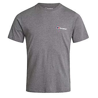 Berghaus Front and Back Logo Hombres Manga Corta Camiseta Casual Camiseta Gris