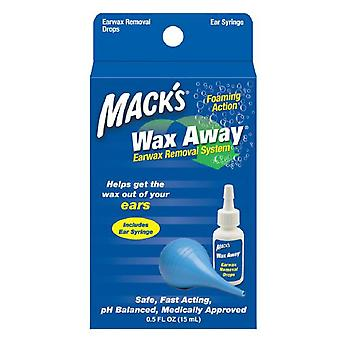 Mack's wax away earwax removal system, 1 ea