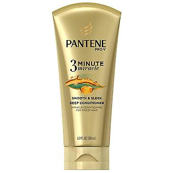 Pantene pro-v smooth and sleek, 3 minute, miracle deep conditioner, 6 oz