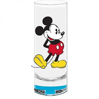 Mickey Mouse Blue Bottom Shot Verre