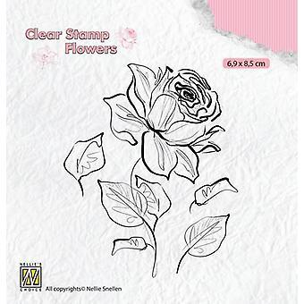 نيلي & أبوس؛s اختيار صورة ظلية صافي الطوابع الزهور ارتفع FLO017 69x85mm