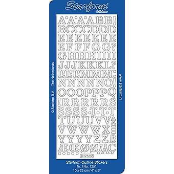 Starform Stickers Alphabet 14: Medium Capitals (10 Sheets) - Gold - 1251.001 - 10X23CM