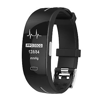 P3 activity wristband with PPG and ECG Silver