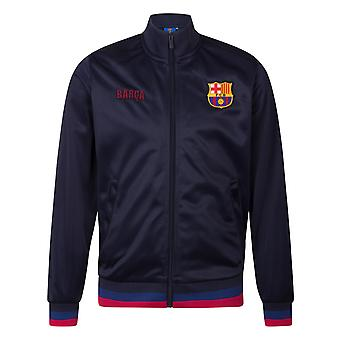 FC Barcelona Official Football Gift Mens Retro Track Top Jacket
