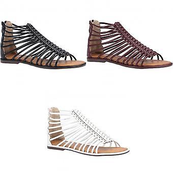 Divaz Womens/Ladies Gemma Gladiator Zip Sandal