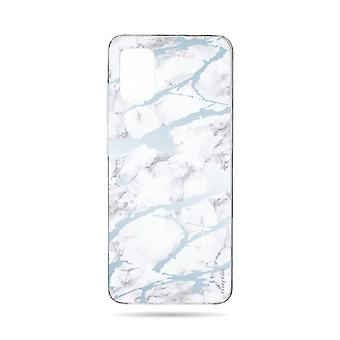 Hull For Samsung Galaxy A71 Soft Blue Marble Effect