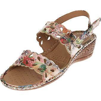 Cushion-Walk Comfort Slingback Wedge Flexible Open Toe Sandals