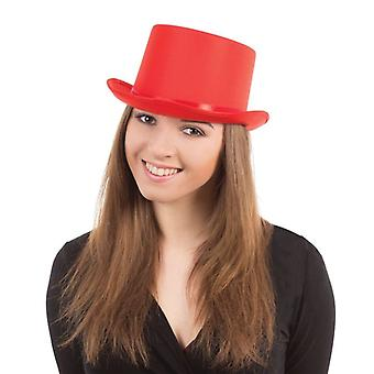 Top Hat. Rød Satin