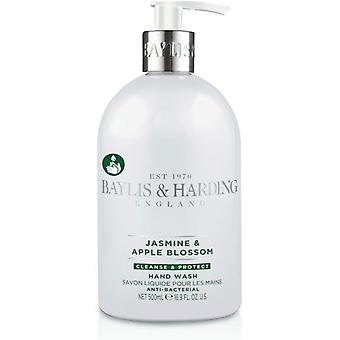 Baylis & Harding Jasmine & Apple Blossom Anti Bacterial Hand Wash 500ml Antiseptic