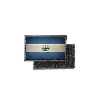 Patch ecusson prints vintage salvador flag badge