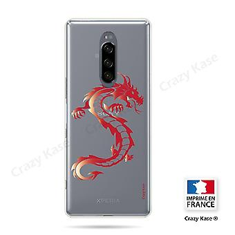 Hull For Sony Xperia 1 Soft Red Dragon