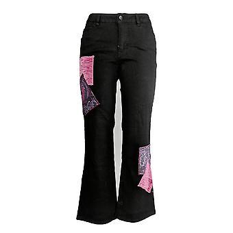 Femmes avec contrôle Femmes-apos;s Petite Jeans My Wonder Boot-Cut Black A347553