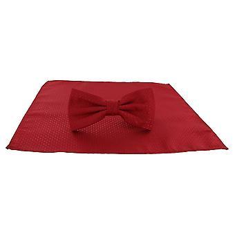Michelsons London Semi Plain Fliege und Tasche Platz-Set - rot