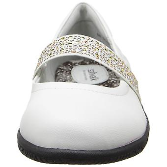 SoftWalk Womens High Point Leather Round Toe Mary Jane Flats