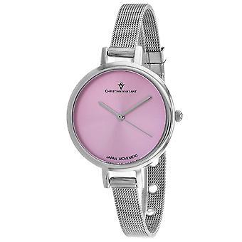 Christian Van Sant Women's Grace Pink Dial Watch - CV0282