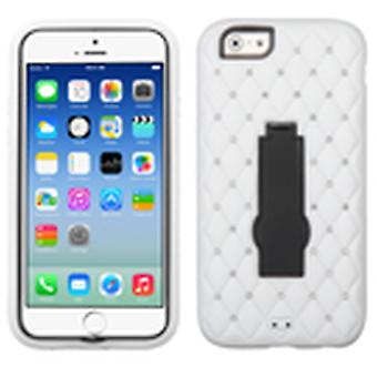 Asmyna Symbiosis Stand Protector Case for Apple iPhone 6/6S - Black/White