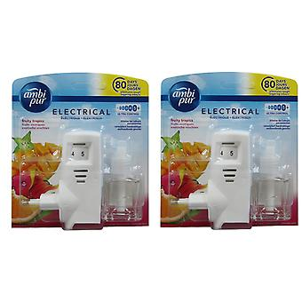 2 x Ambi Pur Electric EU Plug in Starter Kit - Fruchtige Tropen