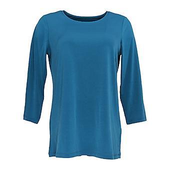 Susan Graver Women's Top Long Sleeved Blue A369121