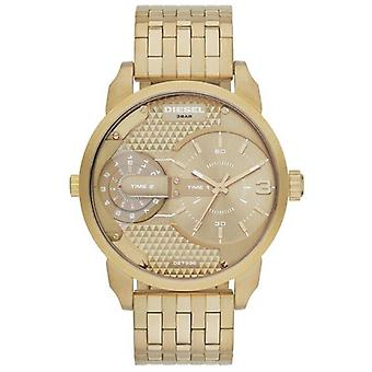Diesel DZ7306 Mini Daddy Champagne Dial Gold-tone Men's Watch