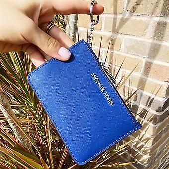 مايكل كورز طائرة تعيين مفتاح حلقة أعلى الرمز البريدي عملة الحقيبة بطاقة الهوية حامل الكوبالت الأزرق