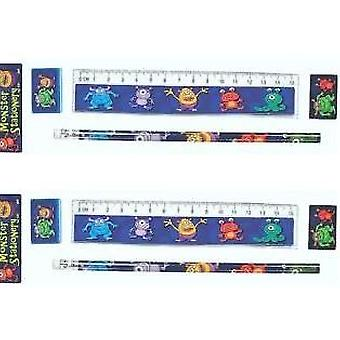 Monster Stationery Set for Bag Filler | Outer Space Party Supplies Decoration