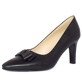 بيتر كايزر تانجا المرأة & s أحذية المحكمة التنكرية في تأثير الجلود السوداء المصقولة النهاية
