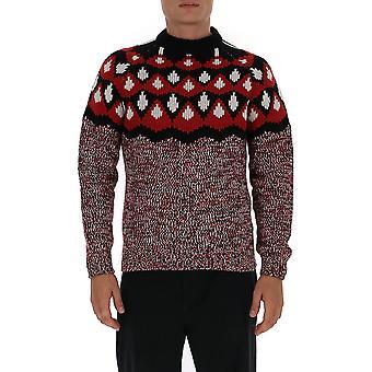 Prada Umb1471xswf0n98 Männer's rote Wolle Pullover