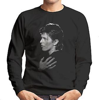TV Zeiten Sänger David Bowie 1977 Herren Sweatshirt