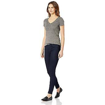 Daily Ritual Women's Washed Cotton Short-Sleeve Deep V-Neck T-Shirt, Bianco, S...