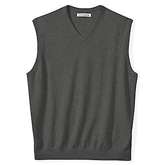 Essentials Men's Big & Tall V-Neck Pulover Vest, Cărbune Heather, 4X